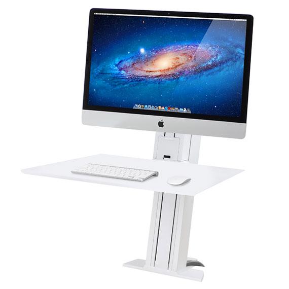 爱格升 ergotron WorkFit-SR重型显示器坐站两用台式支架工作站(白色)33-416-062