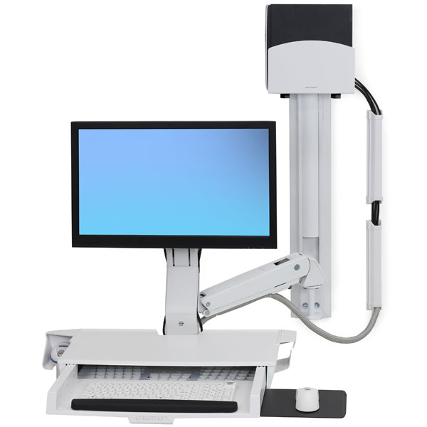 StyleView® 带有工作台面的坐站两用型系统 (亮白)45-272-216