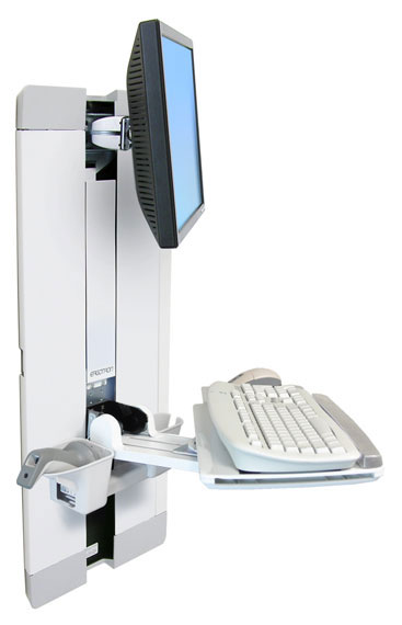 StyleView® 垂直升降支架,病房(白色)60-609-216