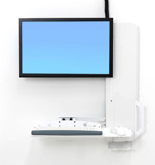 StyleView® 坐站两用垂直升降支架,人流密集区域版 (亮白) 61-081-062