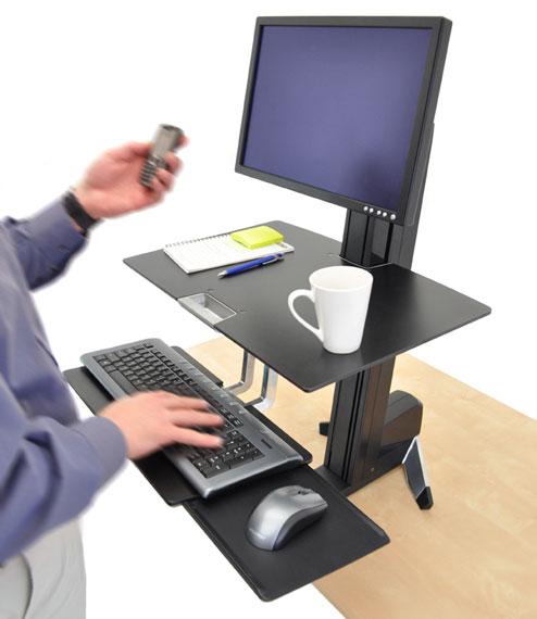 WorkFit-S 轻型显示器工作站带工作台面33-350-200