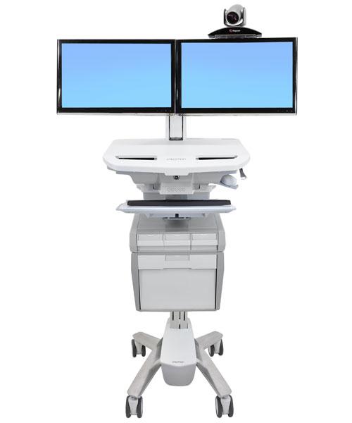 StyleView® Telepresence 推车、双显示器