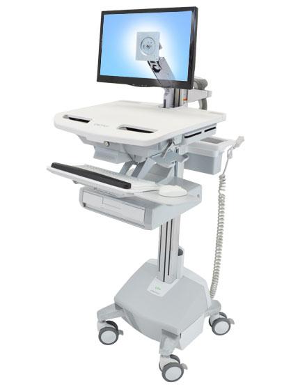 StyleView® 带 LCD 支臂推车,带 LiFe 电源,1 个抽屉 (1x1) SV44-1212-5