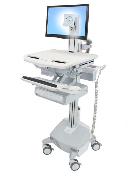 StyleView® 带 LCD 转轴推车,带 LiFe 电源,1 个抽屉 (1x1)