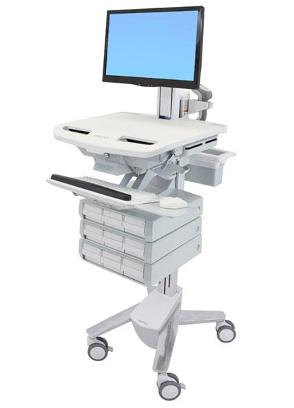 StyleView® 带 LCD 转轴推车,9 个抽屉 (3x3) SV43-1390-0