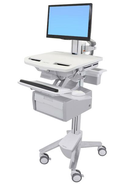 StyleView® 带 LCD 转轴推车,1 个抽屉 (1x1) SV43-13B0-0