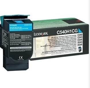 原装利盟 C540H1CG 青色高容粉盒 适用C540n X543 正品耗材