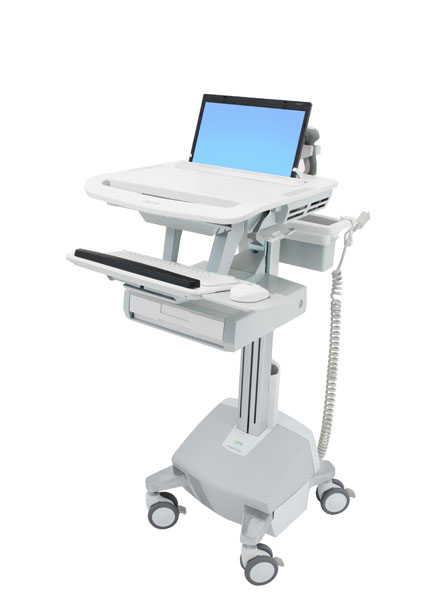 StyleView® 笔记本电脑推车,带 LiFe 电源,1 个抽屉 (1x1) SV44-1112-5